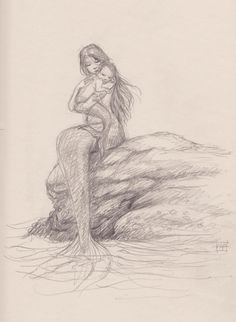 mythology THAT SPACE IN BETWEEN is part of Mermaid drawings - Posts about mythology written by aaronpocock Mermaid Artwork, Mermaid Drawings, Mermaid Tattoos, Mermaid Paintings, Doodle Drawing, Drawing Sketches, Pencil Drawings, Art Drawings, Mermaid Sketch