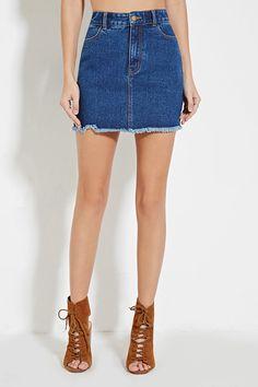 Braided High-Waisted Denim Skirt | Trend We Love: Denim Skirts ...