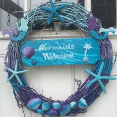 I just listed Ombre Mermaid Wreath/Beach Decor/Cottage/Seaside on The CraftStar @TheCraftStar #uniquegifts