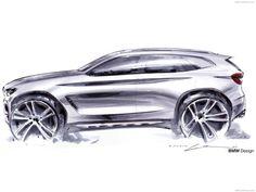 BMW X3 Exterior sketch