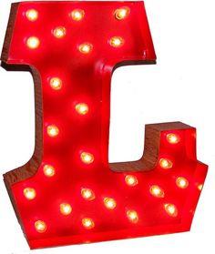 Lighted Carnival Letter L