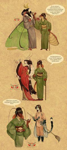 Blade Under Mask Doodles II: Asami Strikes by White-Mantis on DeviantArt