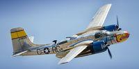 "The Douglas A-26B Invader ""Silver Dragon,"" performing during the 2016 Planes of Fame Air Show.  #Nikon #D7000 #Aviation #Photography #AvGeek #Douglas #A26B #Invader #SilverDragon #PlanesofFame #Chino #California  ottosenphotography.com | © Matt Ottosen"