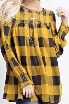 Fall Mustard Plaid S