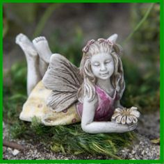 Todays fairy garden favorite plants are Baby's Tears ~ A low-ground covering shade plant. Lush green foliage with tiny white flowers in the summer. Easy to care for and propagate. Grea…