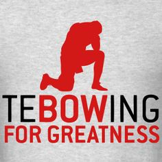 Tebowing...  I hate Florida Gators but you gotta respect this man and his passion for Christ!