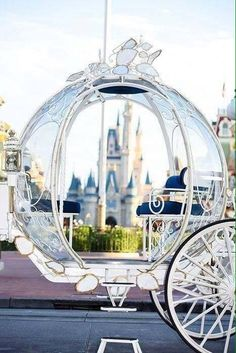 Cinderella's carriage and castle