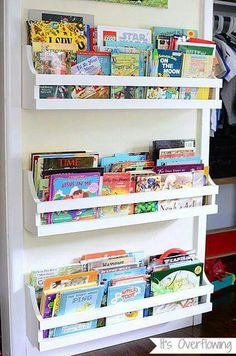 Diy Wall Bookshelf For Kids - 50 Clever Diy Bookshelf Ideas And Plans Wall Mounted Bookshelves 9 Awesome Diy Kids Bookshelves Bookshelves Kids Kids Room Diy Wall Mounted Kid S Book. Diy Wand, Wall Mounted Bookshelves, Bookshelf Ideas, Wall Bookshelves Kids, Homemade Bookshelves, Bookshelf Closet, Bookshelf Headboard, Kids Book Shelves, Book Storage Kids