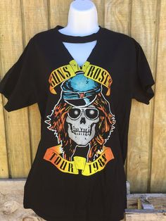 Guns N Roses Appetite for Destruction Concert T.Do you love the neck cut out concert tees but don't want it cut out so deep? We've got you covered!! GNR t has slight neck cut out. Unisex size!  Classy Cowgirl Co- Gypsy Cowgirl ,Fun & Funky Western clothing, jewelry, & Accessories by Lane Boots, Junk Gypsy, Naughty Monkey,Hooey, Vocal, Ali Dee, Pink Panache, ATX Mafia, Urban Mangoz, Montana West, L&B, Beaver Soap, Crazy Train, cowgirl tuff, Liberty black boot...