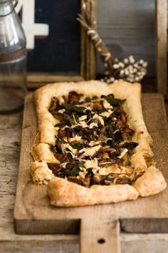 Mushroom Tart with Sage and Asiago by sweetpaul: Minimal prep with a premade sheet of puff pastry. #Mushroom_Tart #sweetpaul