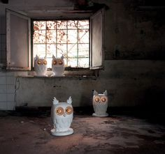 Owl Lamps by Matteo Ugolini