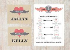 Wedding Schedule Thank you Card