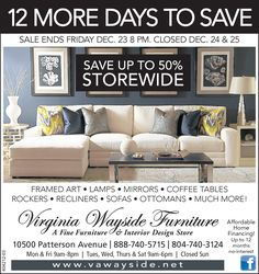 Discover Special Savings Of Top National Brands, Showroom Models,  Furnishings, And More At Virginia Wayside Furnitureu0027s Patterson Avenue  Location In ...