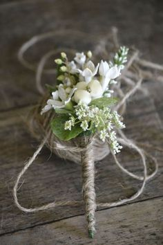 buttonhole & twine  - I will incorporate flowers from the wedding - these will be for the groomsmen.