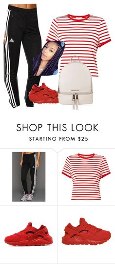 """""""Mind on Money"""" by ashantisowell on Polyvore featuring adidas, Miss Selfridge, NIKE and MICHAEL Michael Kors"""