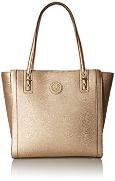 427431719ef Anne Klein Front Runner Large Tote Bag, Gold Dust, Large Leather Tote Bag,