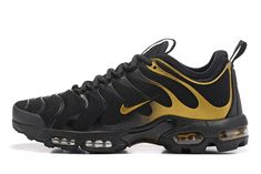 new style 44b24 0fab5 Nike Air Max TN Plus Ultra 2018 Black Golden Men Running Shoes