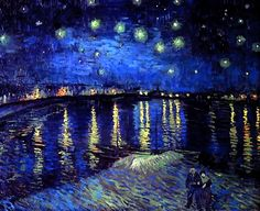 Starry Night Over the Rhone. Van Gogh