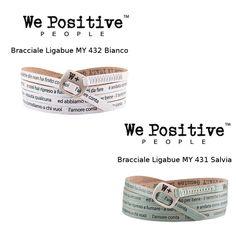 WE POSITIVE LIGABUE L AMORE CONTA BRACCIALE BIANCO MY432 SALVIA MY431 WEPOSITIVE