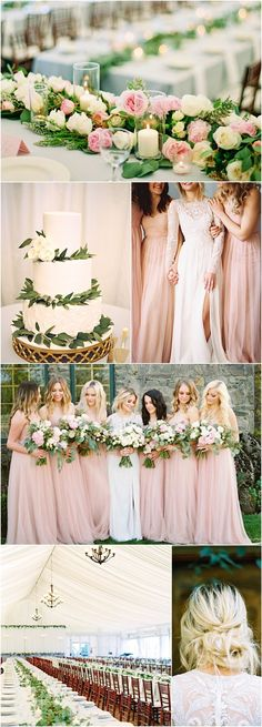 Top 8 Amazing Wedding Color Combos to Steal in Spring blush white and gre. Top 8 Amazing Wedding Color Combos to Steal in Spring blush white and green wedding color combos, spring weddings. Mod Wedding, Chic Wedding, Elegant Wedding, Dream Wedding, Wedding Ideas, Trendy Wedding, Party Wedding, Fall Wedding, Blush Wedding Theme