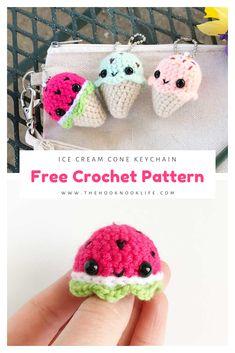 Crochet Keychain Pattern, Crochet Cat Pattern, Crochet Geek, Crochet Amigurumi Free Patterns, Crochet Food, Crochet Gifts, Crochet Dolls, Crochet Yarn, Crotchet