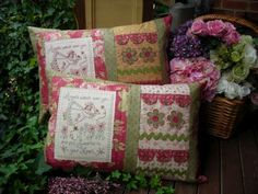 Angels Cushion  Patterns by Sally Giblin for The Rivendale Collection