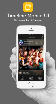 Timeline Mobile UI Screens for iPhone6