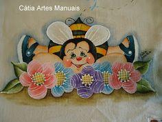 Catia Artes Manuais: PASSO A PASSO PINTURA EM PORTA CALCINHAS