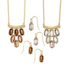 Goldtone necklace with gorgeous faux oval stones in cascading colors creating an ombre look. Includes matching earrings. Offered in Neutral or Mint. Regularly $19.99, buy Avon Jewelry online at http://eseagren.avonrepresentative.com