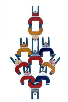 Stackable wooden circus acrobats by Londji coming out soon! Pinned By www.facebook.com/TheLifeLinesStudio