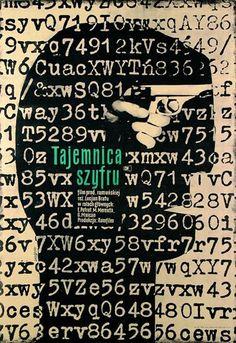 """Stanisław Zagórski, plakat do filmu """"Tajemnica szyfru"""", reż. Lucjan Bratu, 1960, fot. Muzeum Plakatu w Wilanowie"""