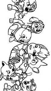 paw patrol and lookout coloring pages