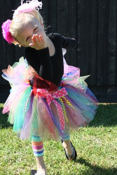 LALALOOPSY Tutu  Rainbow Birthday Tutu  NB5T by CarouselKiddies, $28.00