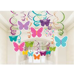 Your decorations are ready to take flight with this clever spring decor item. The Butterfly Swirl Value Pack is ideally suited to use for your spring parties and is also great for a birthday party the