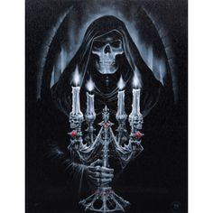 Anne Stokes - Grim Reaper Candlebra Picture 19cm x 25cm
