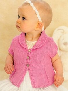 Little vintage prom cardie from #635 - The second irresistibly Sublime baby 4 ply book by  at KnittingFever.com