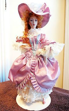 "Franklin Mint 14"" Porcelain Heirloom Victorian GIBSON Girl Doll * VERY RARE"