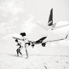 """Jet Airliner""   Airplanes on Saint Martin Beach   Photography by Josef Hoflehner (16 Pictures) > Film-/ Fotokunst, Illustrationen > antille..."