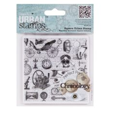 Docrafts Papermania Square Urban Stamp Curiosities Chronology Inventions for sale online 4x4, Craft Materials, Curiosity, Store, Altered Art, Inventions, Cardmaking, Vintage World Maps, Steampunk