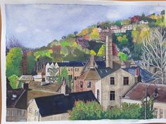 Hebden Bridge by Angela Riley - Win vouchers worth from Winsor & Newton in our Calendar Challenge - February 2020 Hebden Bridge, Competition, February, Palette, Challenges, Colour, Color, Pallets