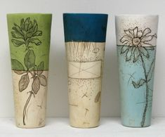 Cylinder Vases by Diana Fayt