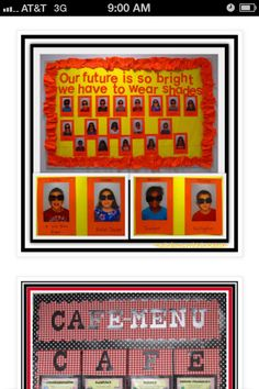"End of Year ""Graduation"" Bulletin Board via RainbowsWithinReach End Of School Year, End Of Year, Beginning Of School, First Day Of School, High School, Preschool Bulletin, Classroom Bulletin Boards, Classroom Ideas, Future Classroom"