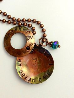 Copper torched custom necklace