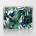 Tropical Butterfly Jungle Leaves Pattern #1 #tropical #decor #art #society6 Laptop & iPad Skin by anitabellajantz | Society6