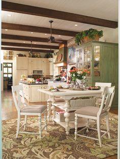 rustikal einrichten natürlich wohnen holzbalken küche esszimmer, Esstisch ideennn