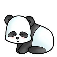 baby sitting panda