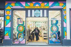 Supermundane sends out a message of inclusivity with shopfront mural for London's creative-led souvenir store...