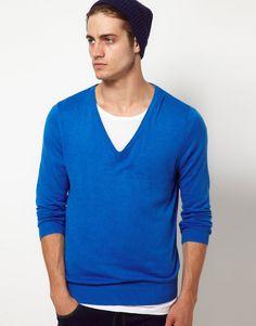 ASOS – Pullover mit V-Ausschnitt