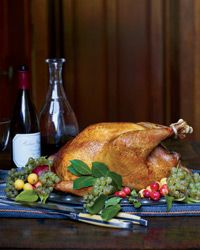 Herb-Roasted Turkey with Wild Mushroom Gravy // California-Style Thanksgiving Recipes: http://www.foodandwine.com/slideshows/california-style-thanksgiving #foodandwine