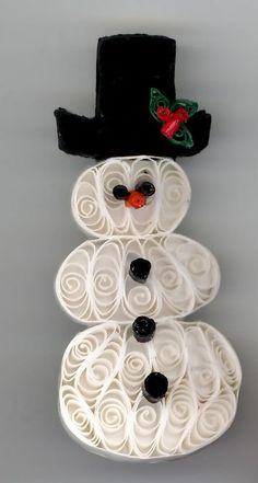Snowman....I love this paper quilling